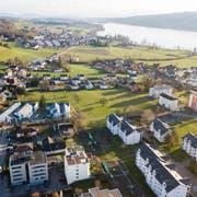 Die Ränder des Dorf Hitzkich aus der Luft (Bild: Boris Bürgisser)
