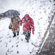Am Donnerstag kommt es zu starkem Schneefall und frostigen Temperaturen. (Bild: Benjamin Manser)