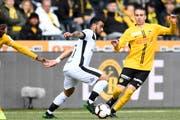 Dribbel- und abschlussstark: Carlinhos Júnior ist am Ball nur schwer zu stoppen. (Bild: Urs Lindt/Freshfocus, Bern, 28. April 2019)
