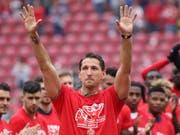 René Adler, 34-jährig, zwölf Spiele als deutscher Nationalgoalie; hatte viel Verletzungspech; in Leverkusen von 2003 bis 2012; Rücktritt am vergangenen Samstag in Mainz.