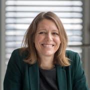 Sonja Lüthi an der Pressekonferenz über die Neuverteilung der Direktionen nach ihrer Wahl. (Bild: Michel Canonica - 30. November 2017)