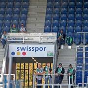 Bereits am 28. September 2014 blieb der St. Galler Anhang dem Gästesektor fern. Er verbrachte das Spiel vor dem Stadion. (Bild: Philipp Schmidli)