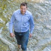 In der grünen Lunge Frauenfelds: Stadtrat Andreas Elliker. (Bild: Andrea Stalder)