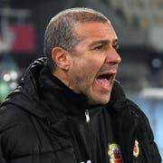 Wechselt im Schnitt alle zwei Jahre den Arbeitgeber: Julio Ribas, Trainer von Gibraltar. (Bild: Georgi Licovski/EPA (Skopje, 19. November 2018))