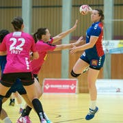 Zugs Sibylle Scherer im Spiel gegen Spono Nottwil. (Bild: Maria Schmid, Zug, 21. September 2016)