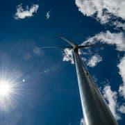 Das Windkraftwerk Haldenstein der Firma Calandawind bei Chur. (Bild: Benjamin Manser)