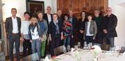 Bildungs- und Kulturdirektor Beat Jörg zusammen mit den verabschiedeten Lehrpersonen. (Bild: PD, Seedorf, 12. Juni 2019)