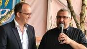 OK-Präsident Daniele Ventaglio (rechts) und der Gemeindepräsident der Gastgebergemeinde, Lucas Keel.