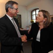 Josef Dittli und Heidi Z'graggen werden Uri im Ständerat vertreten. (Bild: Urs Hanhart)