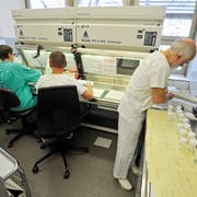 Im Kantonsspitals Münsterlingen werden Organteile auf Krebszellen untersucht. (Bild: Reto Martin)