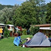 Zeltler-Idyll auf dem Campingplatz Wagenhausen (Bild: Reto Martin)