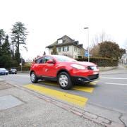 Ab Montag bis Mitte Juni ist es nicht mehr möglich von der Ringstrasse (im Vordergrund) in die Speicherstrasse (rechts im Hintergrund) abzuzweigen. (Bild: Donato Caspari)