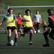 Die Junioren des FC Schattdorf können schon seit vielen Jahren auf Kunstrasen trainieren – bald auch die Mannschaften des FC Altdorf? (Bild: Urs Hanhart, 15. April 2019)