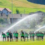 Wie stehen die Chancen des «neuen» FCSG? Kann er mit der Super-League-Konkurrenz mithalten, oder wird er kalt geduscht? (Bild: Andy Müller/Freshfocus)