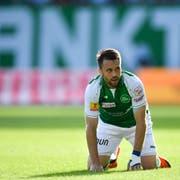 Der FC St.Gallen – im Bild mit Andreas Wittwer – muss finanziell erst wieder auf die Beine kommen. Bild: (Gian Ehrenzeller/KEY)