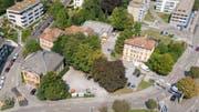Der neue HSG-Campus soll auf das Areal zwischen Platztor, Unterem Graben, Böcklinstrasse, Magniberg und St.-Jakob-Strasse zu stehen kommen. (Bild: Urs Bucher - 28. August 2018)