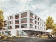 So soll der Erweiterungsbau des Pflegezentrums Feld in Oberkirch dereinst aussehen. (Visualisierung: Amrein Giger Architekten)