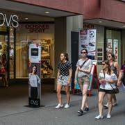 Zu wenig Kunden: Nun stehen die OVS-Läden vor Liquidationsverkäufen. (Bild: Philipp Schmidli)