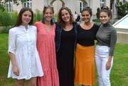 Die Organisatorinnen die verantwortlich sind für die erste Klassenzusammenkunft am Kathi Wil (von links): Sophie Siegfried, Ivana Mettler, Julia Riedl, Sima Afshar und Lorina Brändle.