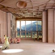 So könnte es dereinst im Innern des Klanghauses aussehen. (Visualisierung: PD)