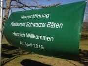 Der Schwarze Bären wird am 3. April wieder eröffnet. (Bild: Reto Voneschen - 21.3.2019)