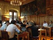 Der Grosse Stadtrat an seiner Sitzung im im Rathaus Luzern. Vorne rechts sitzt Stadträtin und Finanzdirektorin Franziska Bitzi. (Bild: Gabriela Jordan (Luzern, 28. Juni 2018))