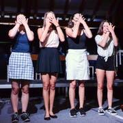 «Fair», das Abschlussmusical von 27 Sekundarschüler, im Dachstock vom Schulhaus Lützelmurg, beinhaltete Tiefgang und Humor, gepaart mit Gesang, Musik und Schauspiel. (Bild: Christoph Heer)