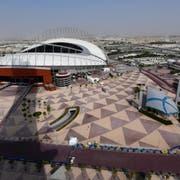 Das Khalifa International Stadion in der sogenannten Aspire Zone von Doha. (Bild: Noushad Thekkayil/EPA, Katar, 26.9.2019)
