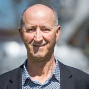 Hat gut lachen: Der Häggenschwiler Gemeindepräsident Hans-Peter Eisenring. (Bild: Benjamin Manser, 20. April 2014)