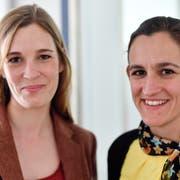 Glückliche Siegerinnen: Corina Gredig (links), Co-Präsidentin GLP Kanton Zürich, und Marianna Schlatter-Schmid, Präsidentin