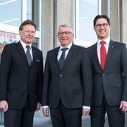 Geniessen nach wie vor das Vertrauen der Kunden (von links): Bruno Polli (NW), Kurt Sidler (LU) und Oliver Britschgi (OW). (Bild: Dominik Wunderli)
