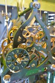 Traum für Technik-Begeisterte: die mechanische Uhr im Turm der evangelischen Kirche Weinfelden. (Bild: Mario Testa)