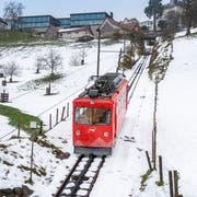 Die Rheineck-Walzenhausen-Bahn ist wegen zu tiefer Auslastung gefährdet. (Bild: Urs Bucher)