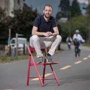 Der Parteilose Florian Studer, hier beim Rad- und Gehweg «Freigleis» beim Neubad in Luzern, will Ständerat werden. (Bild: Pius Amrein, 18. September 2019)