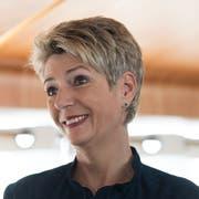 Bundesrätin Karin Keller-Sutter. Bild: KEYSTONE/Gian Ehrenzeller (Romanshorn, 29. März 2019)