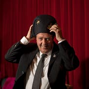 Hebi Lörch aus Horw ist Wey Zunftmeister 2019, hier fotografieirt im Casineum. (Bild: Corinne Glanzmann (Luzern, 02. Januar 2019))