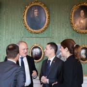 Der Migrationspakt war auch Thema an den Von-Wattenwyl-Gesprächen zwischen dem Bundesrat und den Parteispitzen vom Freitag in Bern. (Bild: KeyPeter Klaunzer (Bern, 9. November 2018))