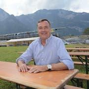 Franzsepp Arnold (Bobby) ist OK-Präsident des Innerschweizerischen Schwing- und Älplerfests 2019 in Flüelen. (Bild: Florian Arnold, 2. Juni 2019)