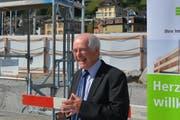 Hans Altherr, Verwaltungsratspräsident der SOB ist überzeugt vom Projekt. (Bild: Ruben Schönenberger)