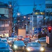 Feierabendverkehr auf der Teufener Strasse. (Bild: Benjamin Manser)