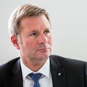 Finanzdirektor Marcel Schwerzmann informiert über die Reform. (Bild: Alexandra Wey/ Keystone, 5. September 2017)
