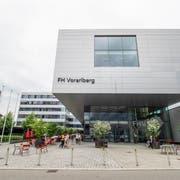 Der Campus der FH Vorarlberg in Dornbirn. Hier soll dereinst auch der HSG-Campus gebaut werden. (Bild: Hanspeter Schiess)