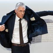 Bundesanwalt Michael Lauber nach seinem umstrittenen Auftritt vor der Presse. (Bild: KEY)
