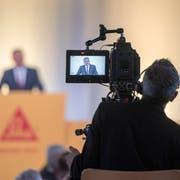 Stand gestern einmal mehr im Fokus: Sika-Verwaltungsratspräsident Paul Hälg. (Bild: Urs Flüeler/Keystone, Baar, 11. Juni 2018)