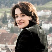 Isabel Schorer vor der Kulisse der Stadt St.Gallen. (Bild: PD, 2. Juli 2018)