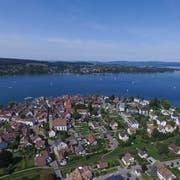 Eine Luftaufnahme des Unterseestädtchens Steckborn. (Bild: Olaf Kühne)