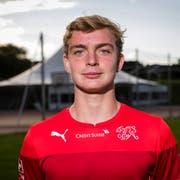 Bradley Fink posiert im Rahmen eines Trainings der Schweizer U15-Nationalmannschaft in Nottwil. (Bild: Philipp Schmidli (18. September 2017))