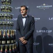 Roger Federer am Gala-Abend des von ihm mitinitiierten Laver Cup. (Bild: KEYSTONE/MARTIAL TREZZINI)
