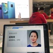Verbrachte das Wochenende in Haft: Huawei-CFO Meng Wanzhou. Bild: Han Guan/AP (Peking, 6. Dezember 2018)