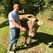 Thomas Barmettlers Kühe tragen Hörner. Weil es sich so ergeben hat, wie er selber sagt. Bilder: Andrea Häusler